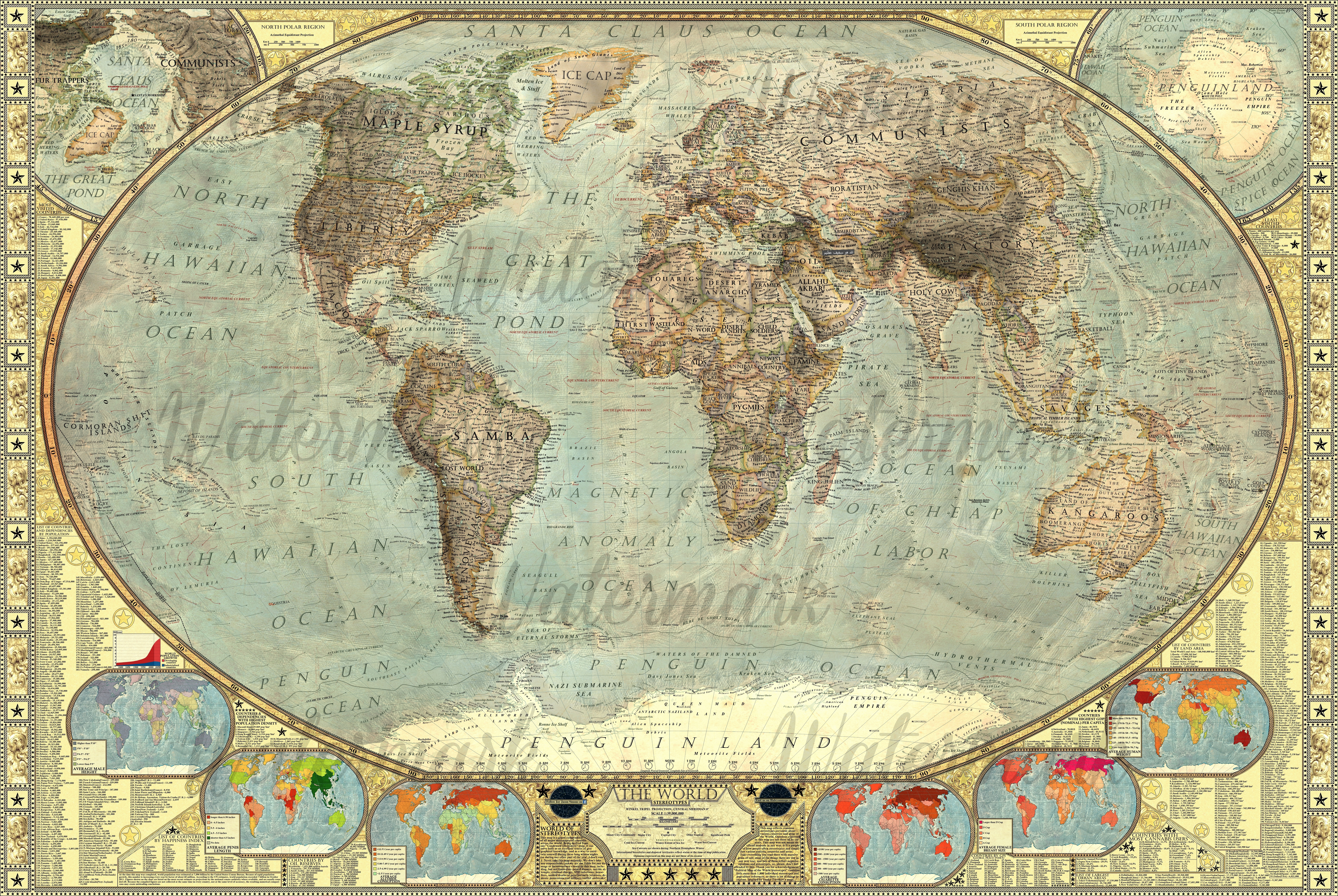 Map of the World Stereotypes by JaySimons