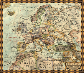 Map of the Stereotypes(Europe) by JaySimons