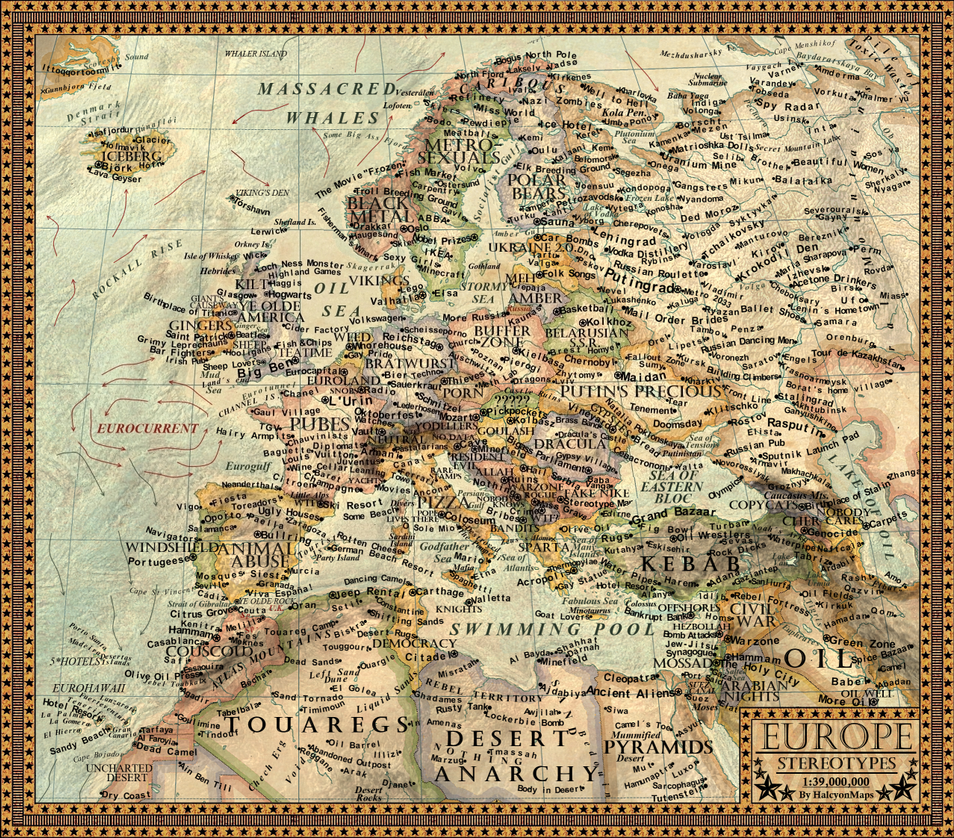 Map Of The StereotypesEurope By JaySimons On DeviantArt - Map od