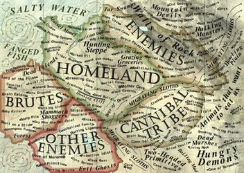 World According to Cavemen by JaySimons