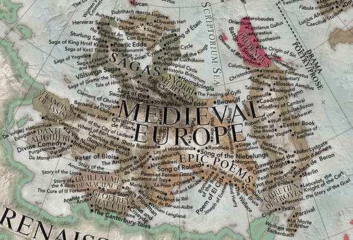 Map of the Literature II - medieval prose/poetry