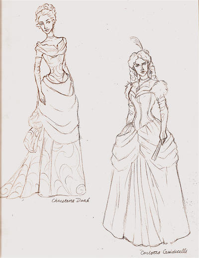Gowns--sketch by Muirin007 on DeviantArt