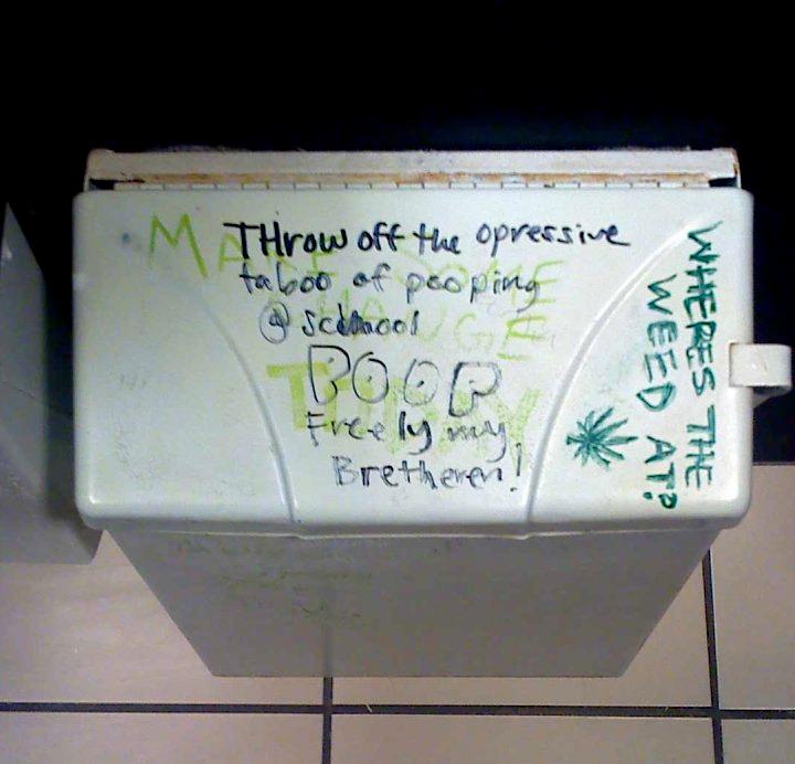 VWVortex.com - Bathroom stall graffiti