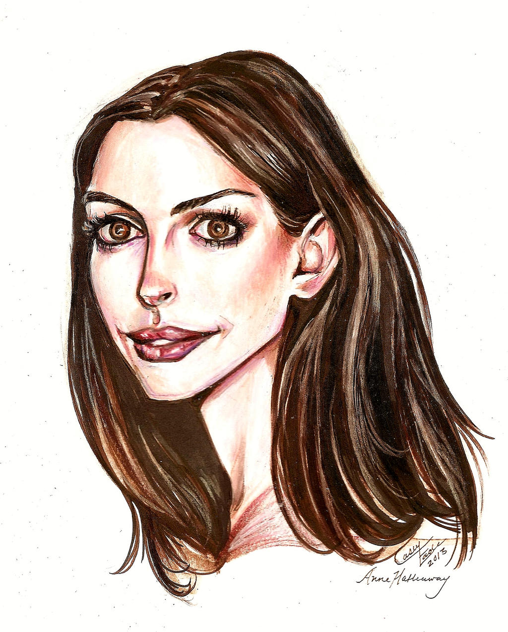 Anne Hathaway Drawing: Anne Hathaway By Muirin007 On DeviantART