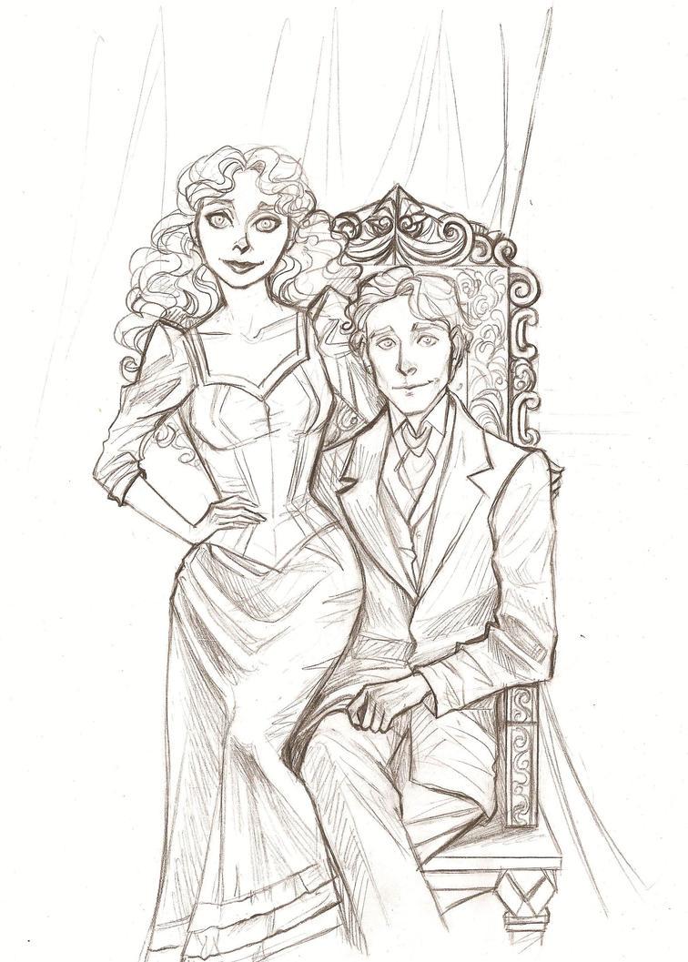 The DeChagnys - sketch by Muirin007
