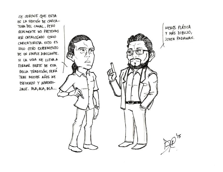 Sarcasticatura #1: 'Caricaturista' by DFReyes