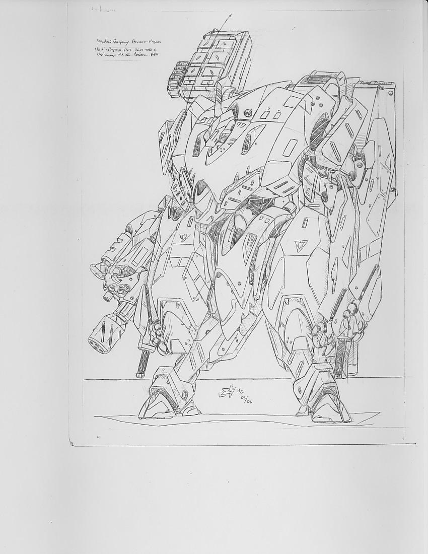 Warhammer mk V Armor-Marine by mikecharles