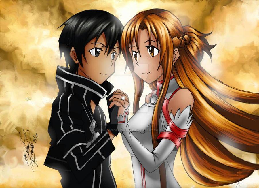 Kirito and Asuna by KnightofLight84