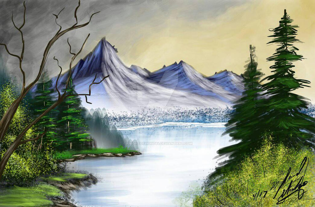 Bob Ross Study01 by KnightofLight84