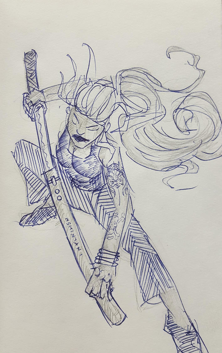 quick sketch from Unsheathing a Sword by shintani
