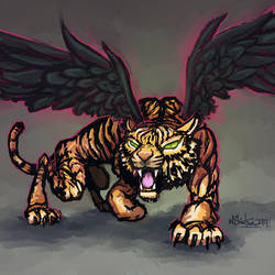 Winged Tiger by shintani