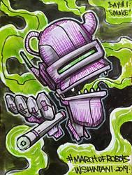 March of Robots Day1 - Smoke1 by shintani