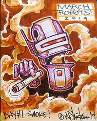 March of Robots Day1 - Smoke2 by shintani