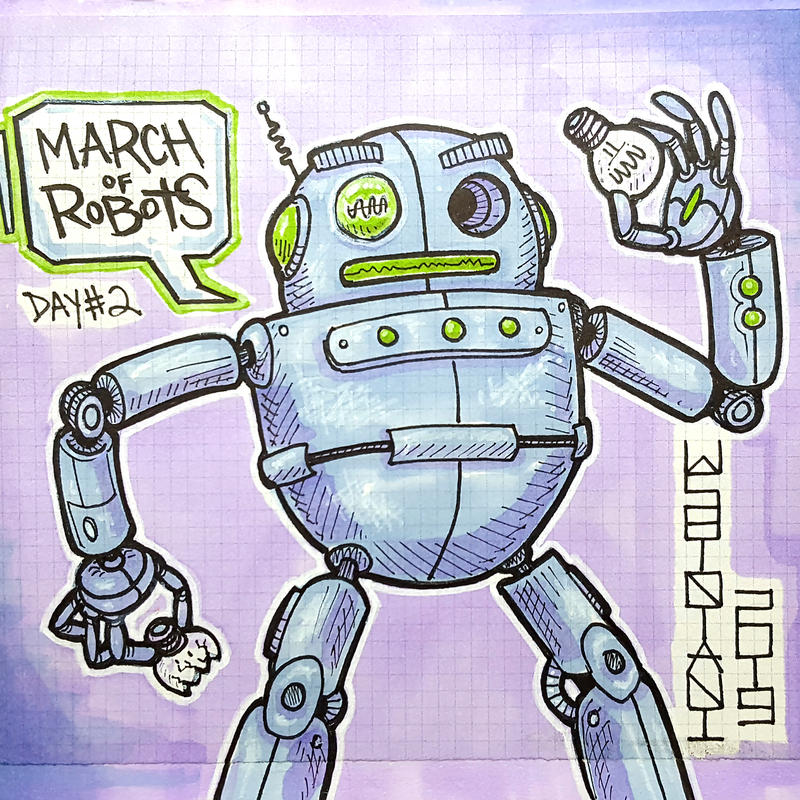 March of Robots Day2 - BULB by shintani