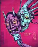 Hannya Mask / Cyber Skull by shintani
