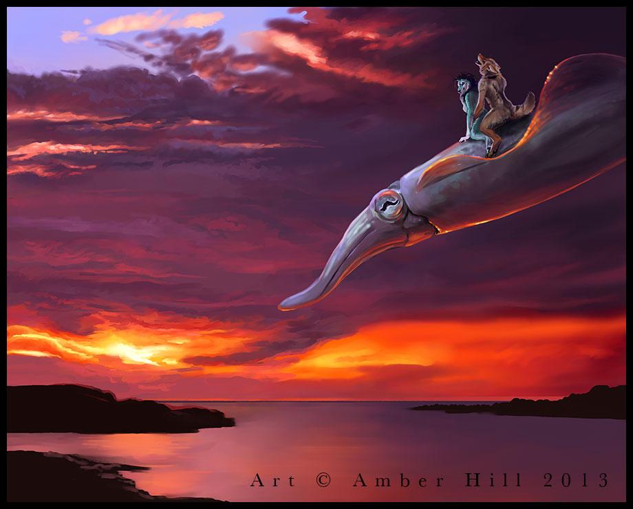 The Sky Squid by vantid