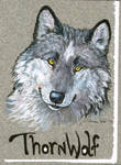 Conbadge: Thornwolf by vantid