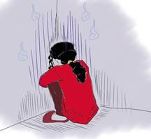 Michael Jackson in Gloomy Mood by VeinalAnovyn