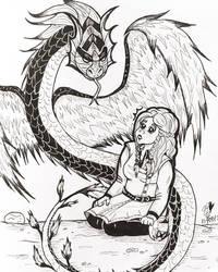 Inktober Day 5 : Long by TanoshiiGirl