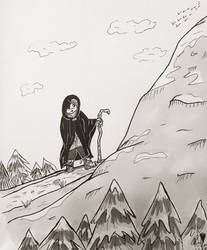Inktober Day 8: Crooked by TanoshiiGirl