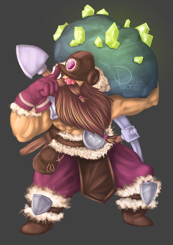 Dwarf Miner Design by Pinteezy
