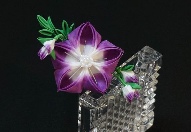 Purple Bellflower Tsumami Kanzashi 240 By