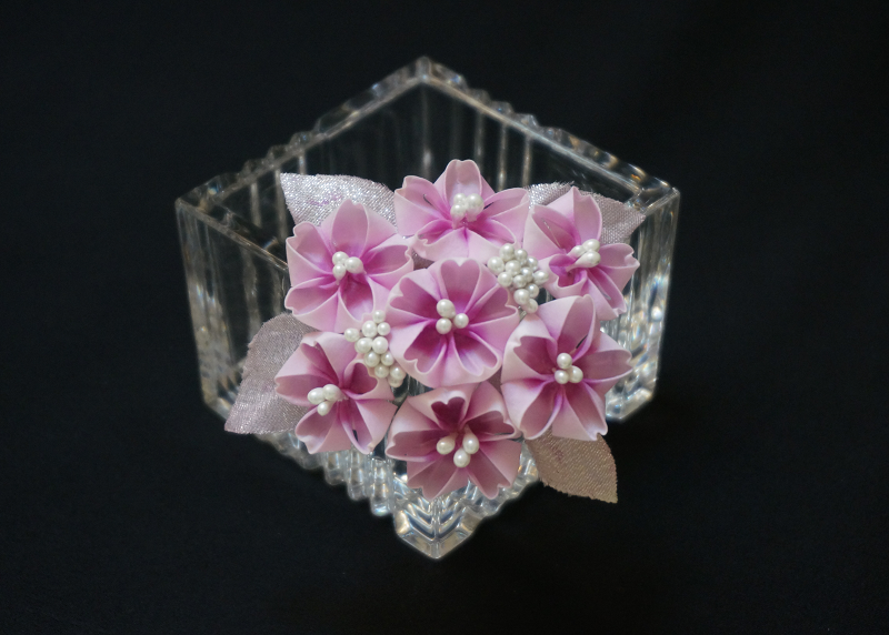 Sakura Cherry Blossoms Kanzashi View 2 By