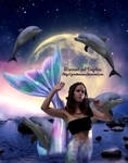 Mermaid and Dolphins by GrandeReveuse