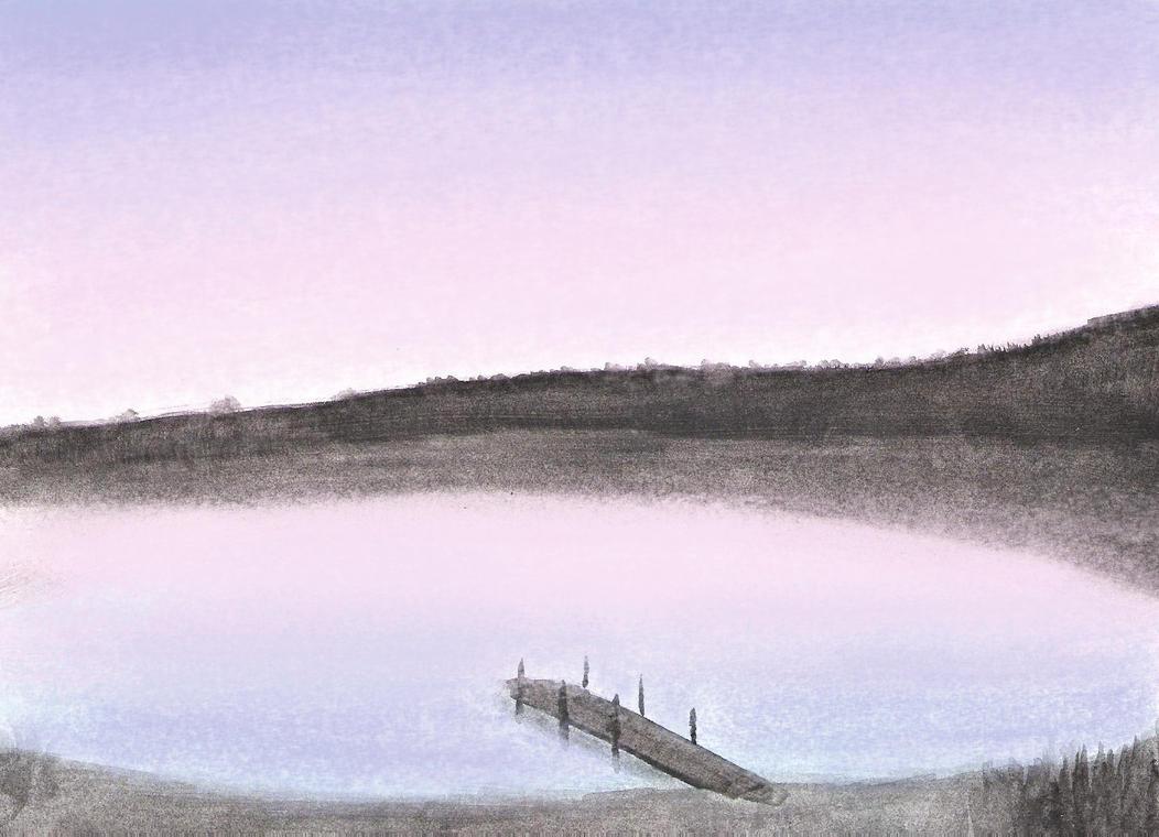 Watercolor landscape by 130Dk