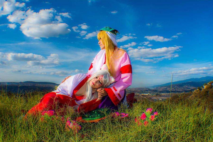 Amaterasu and Waka by Blancaliliam