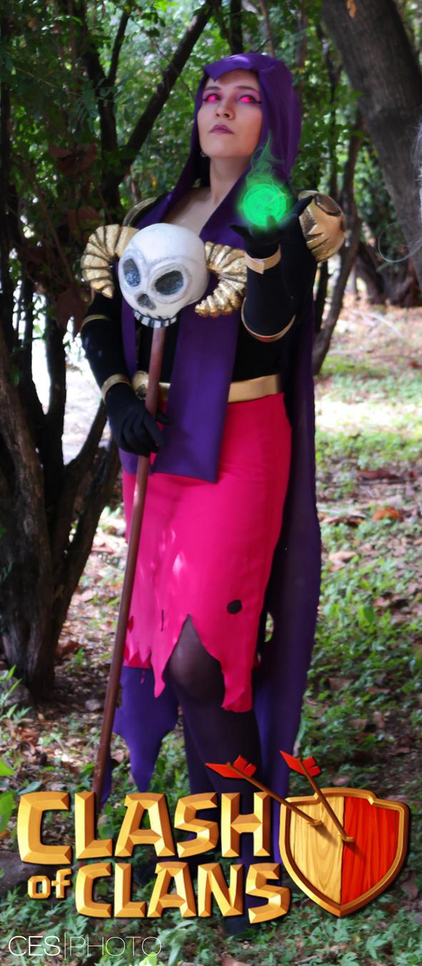 clash of clans bruja 2 by Blancaliliam