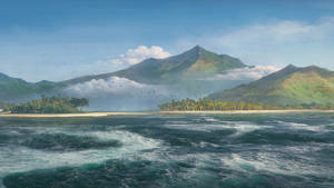 Misty Lagoon Wallpaper