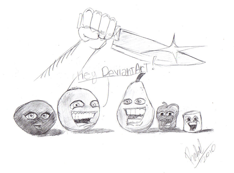 Annoying orange and friends by rafael oliveira on deviantart for Annoying orange coloring pages