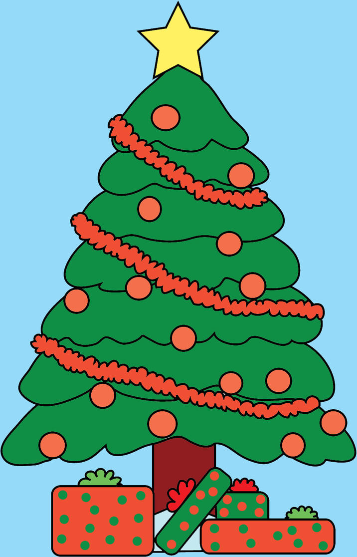 Christmas tree lineart color by Neko-mello on DeviantArt