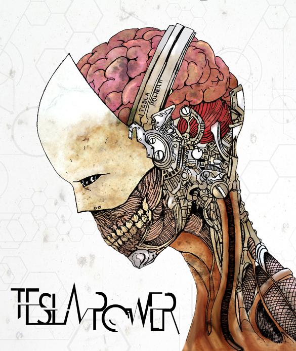 tesla power cover art by salomon