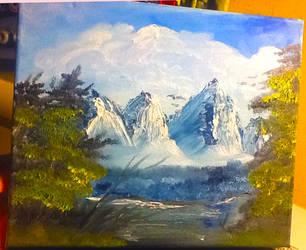 snow mountain by Tjibi