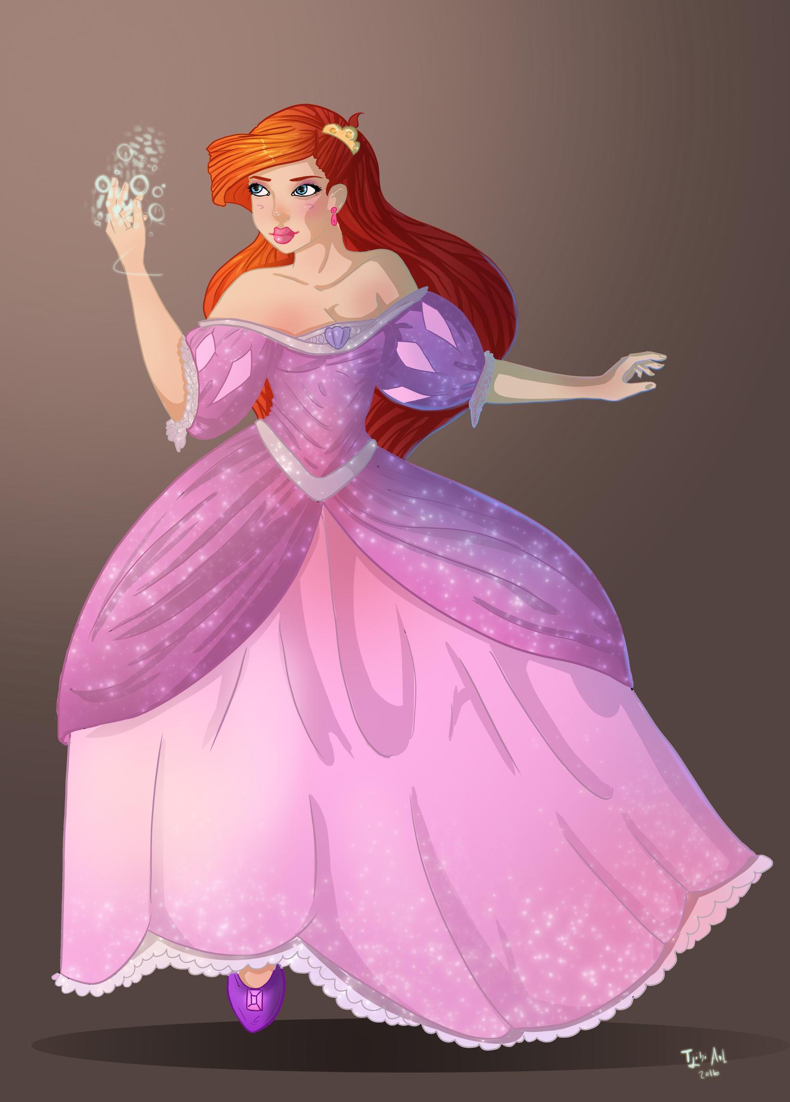 Ariel - Pink dress by Tjibi on DeviantArt