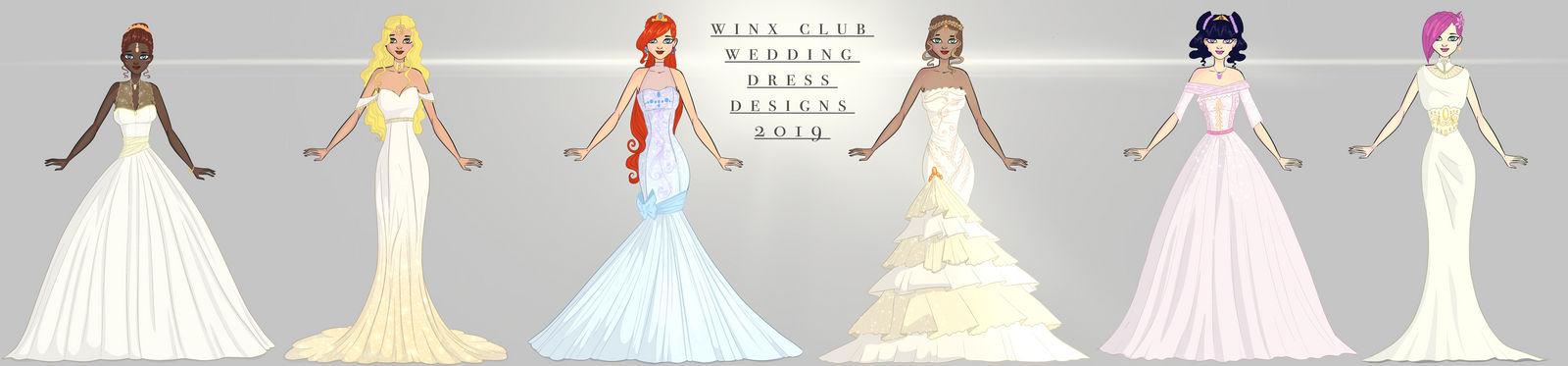 Winx club all weddingdress design