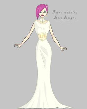 TEcna wedding dress