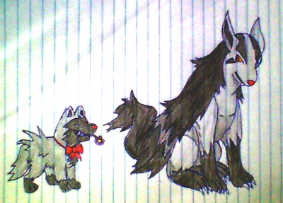 Mightyena and Poochyena by Archiedrachennfall