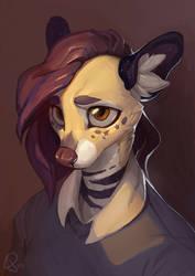 Rel Painted Portrait by HotahMai