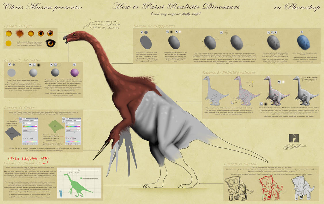 How I paint Dinosaurs - Part1 by ChrisMasna