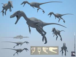 Velociraptor 3d model WIP by ChrisMasna