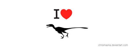 I Love Velociraptors - Facebook Banner