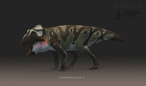 Leptoceratops gracilis by ChrisMasna