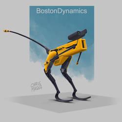 Little BostonDynamics dino fanart