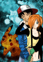 Pokemon Fancomic Cover in blue by HorrorPillow