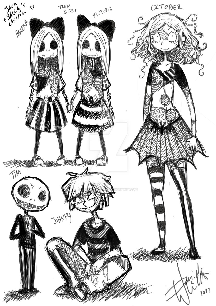 Jack and Sallys children Characterdesign by HorrorPillow