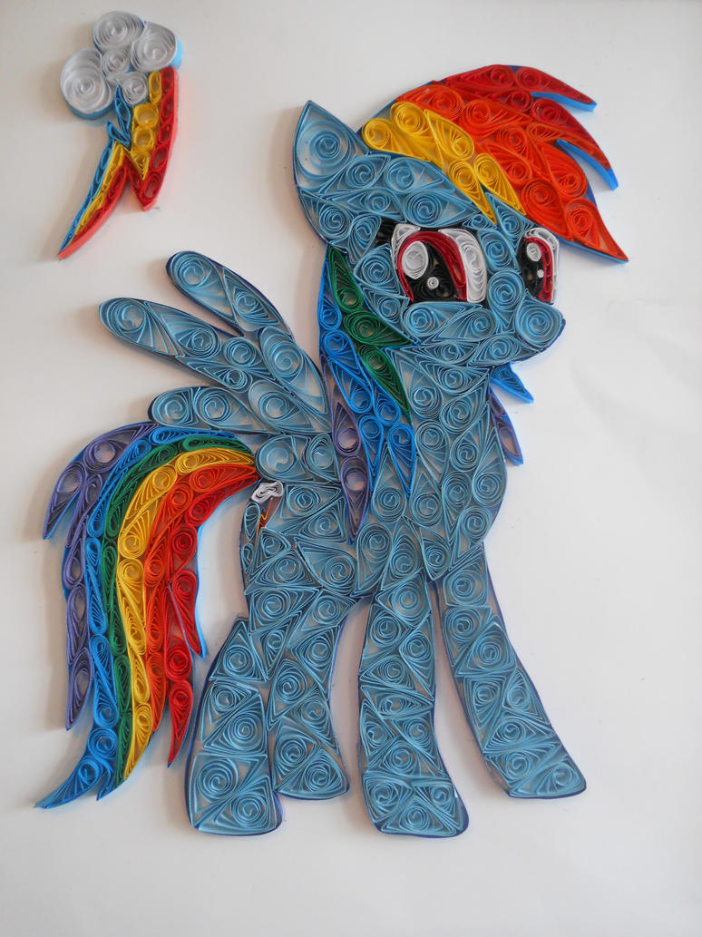 Quilling - Rainbow Dash by Sszymon14