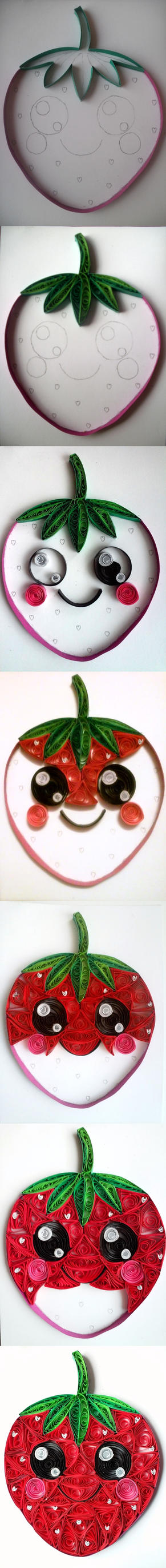 Quilling - Strawberry (step by step) by Sszymon14
